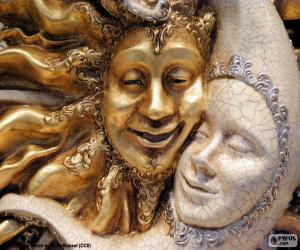 Masks of the Sun and the Moon puzzle