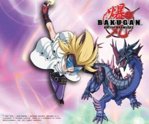 Masquerade and his Bakugan Darkus Hydranoid puzzle