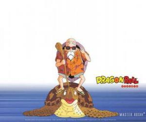 Master Roshi, Muten Roshi or Kame Sennin, the ancient martial arts master who trains Son Goku and Krillin puzzle