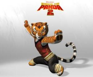 Master Tigress is the strongest and bravest of the masters of Kung Fu. puzzle