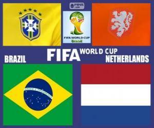 Match for the 3rd place, Brazil 2014, Brazil vs Netherlands puzzle