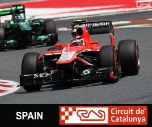 Max Chilton - Marussia - Circuit de Catalunya, Barcelona, 2013 puzzle