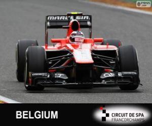 Max Chilton - Marussia - Spa-Francorchamps, 2013 puzzle