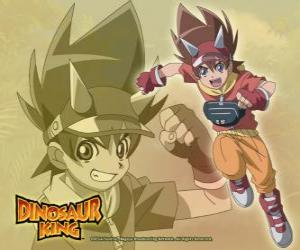 Max Taylor, the main protagonist of Dinosaur King puzzle