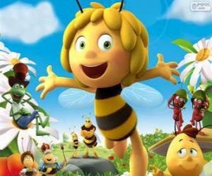 Maya the bee and other characters puzzle