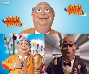 Mayor Milford Meanswell. Milford Meanswell is the mayor from Lazy Town puzzle