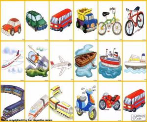 Means of transport puzzle