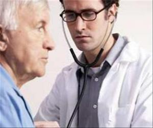 Medical or doctor with a stethoscope prepared for the auscultation of a patient puzzle