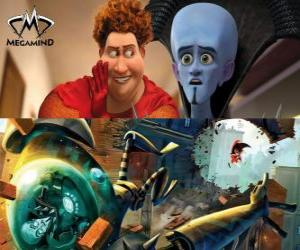 Megamind and Tighten or Titan in a fight puzzle