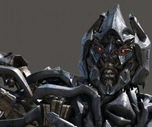 Megatron the Supreme leader of the villainous faction the Decepticons puzzle