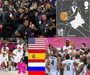 Men's basketball podium London 2012 puzzle