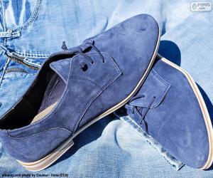 Men's Blue Shoes puzzle