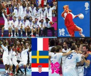 Men's handball London 2012 puzzle