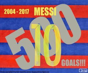 Messi 500 goals puzzle