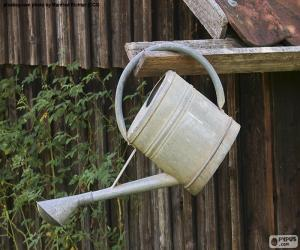 Metal watering can puzzle