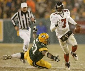 Michael Vick running with ball in hand puzzle