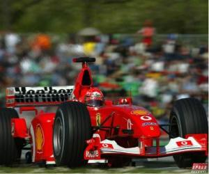 Michel Schumacher (Kaiser) piloting its F1 puzzle