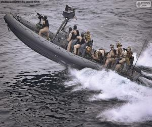 Military inflatable boat puzzle