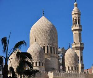 Minarets, the towers of the mosque puzzle