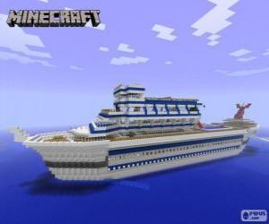 Minecraft cruise ship puzzle