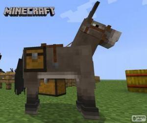 Minecraft horse puzzle