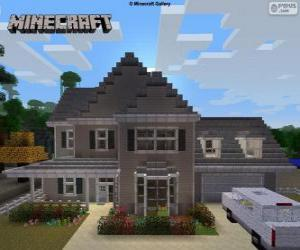 Minecraft House puzzle