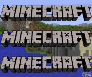 Minecraft logo puzzle
