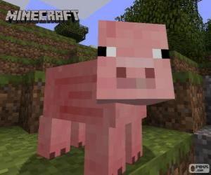 Minecraft pig puzzle