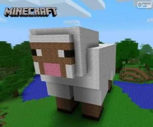 Minecraft sheep puzzle