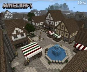 Minecraft village puzzle