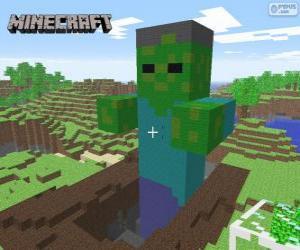 Minecraft Zombie puzzle
