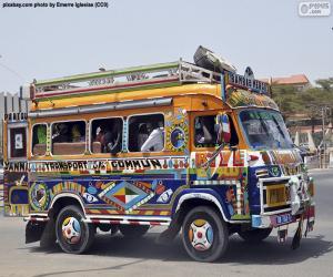 Minibus, Dakar, Senegal puzzle