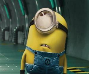 Minion of one eye, a small humanoid protagonist of Despicable Me puzzle