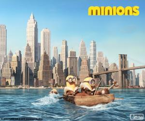 Minions arrive in New York puzzle