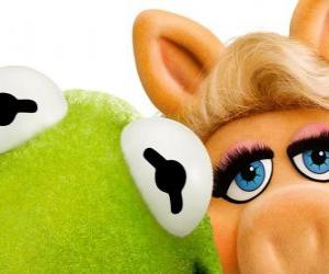 Miss Piggy and Kermit the Frog puzzle