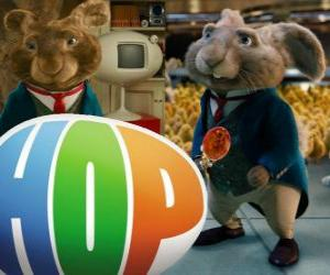 Mister Bunny, the current Easter Bunny and the father of EB. Hop, the film puzzle