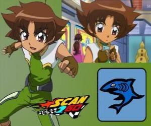 Mitsuki Kaibara of Scan2Go, the power of shark gives him a great coldness and also cruelty during the competition puzzle