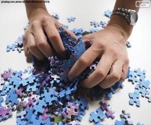 Mix up the pieces of the puzzle puzzle