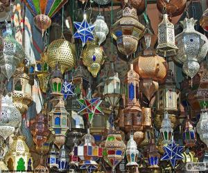 Moroccan lamps puzzle