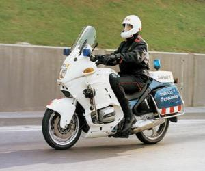 Motorised policeman with his motorcycle puzzle