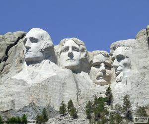 Mount Rushmore, United States puzzle