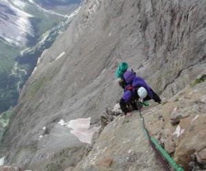 Mountaineer scaling a peak puzzle