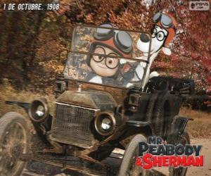 Mr. Peabody and Sherman in his trip to the year 1908 puzzle