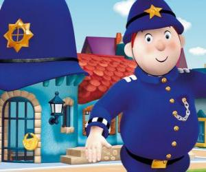 Mr. Plod is the Policeman of the town of the toys, Toytown puzzle