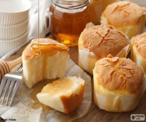 Muffins with honey puzzle