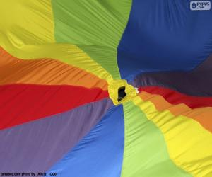 Multicolored fabric puzzle
