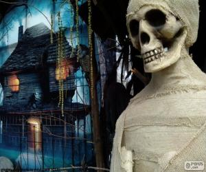 Mummy and haunted house puzzle