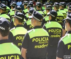 Municipal police, madrid puzzle