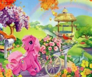 My little pony surrounded by flowers puzzle