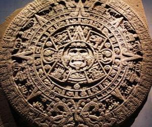 Mystical aztec calendar puzzle